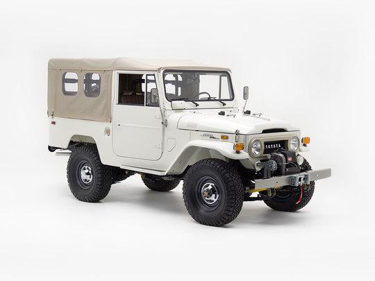 1970 Toyota Land Cruiser FJ43 White