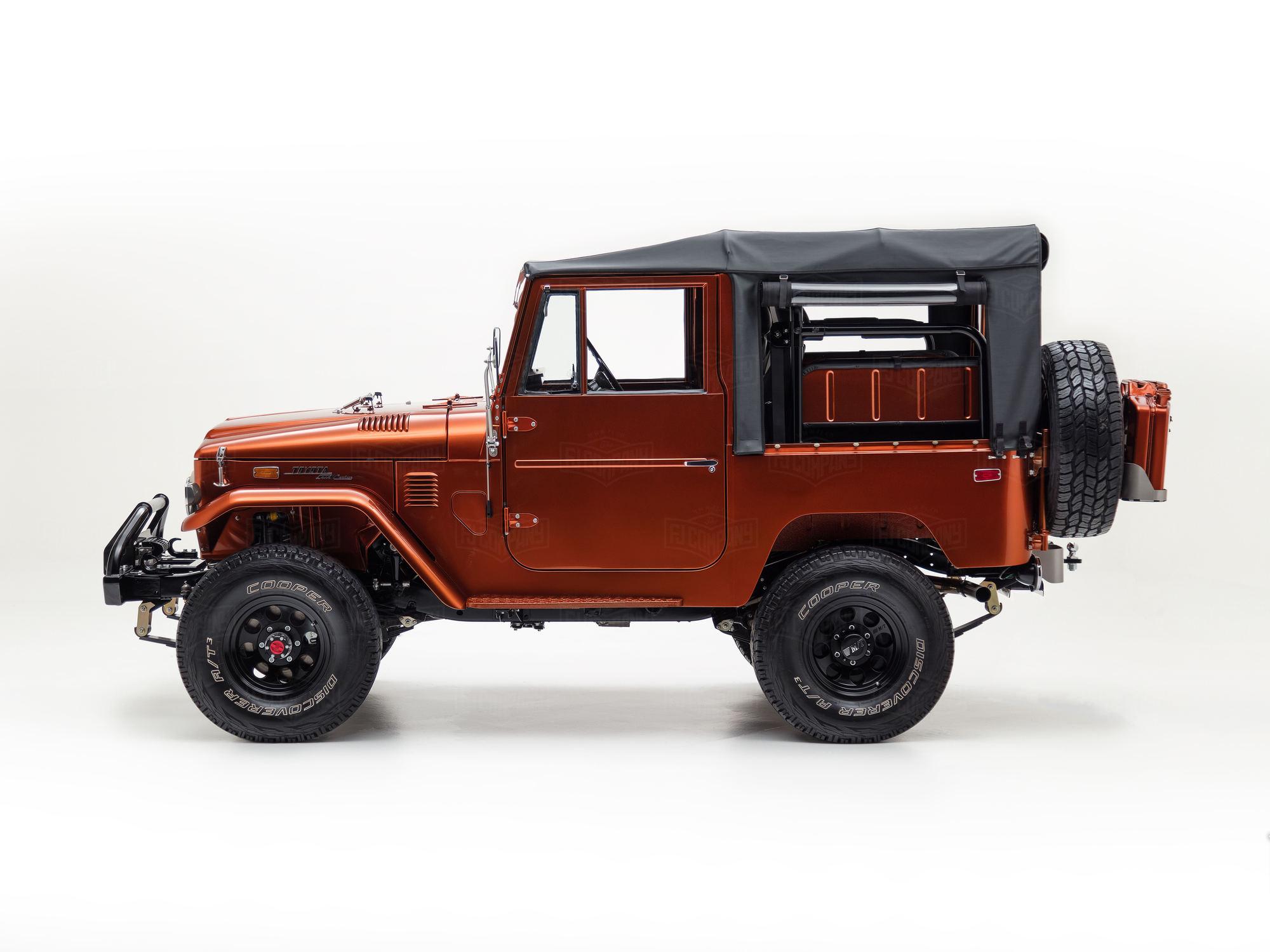 1972 Fj40 Metallic Orange 126414 1975 Toyota Land Cruiser