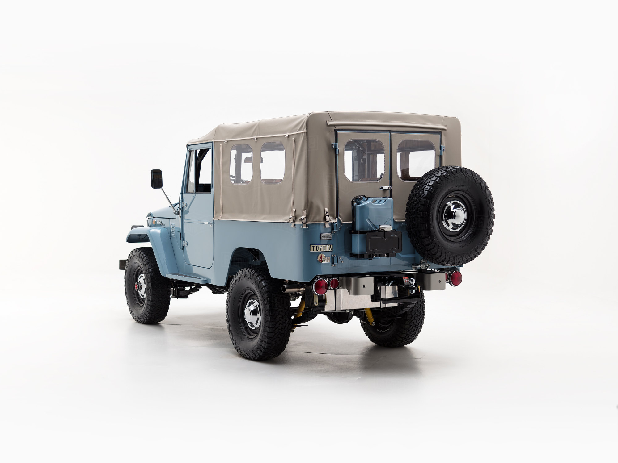 1973 Fj43 Capri Blue 25992 Toyota Land Cruiser The Fj Company