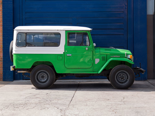 1979 Toyota Land Cruiser FJ43 Heath gray