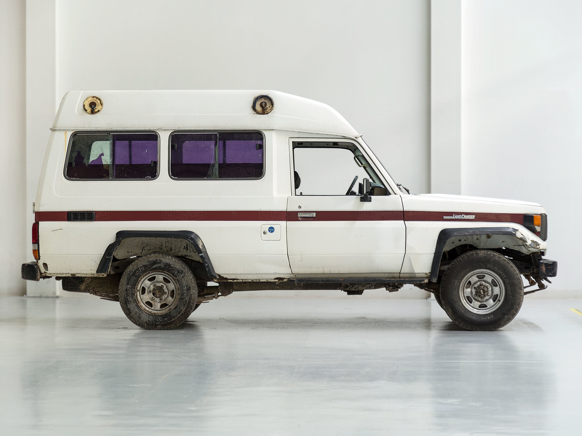 1988 Toyota Land Cruiser FJ75 White