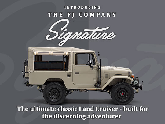 The ultimate classic Land Cruiser - built for the discerning adventurer